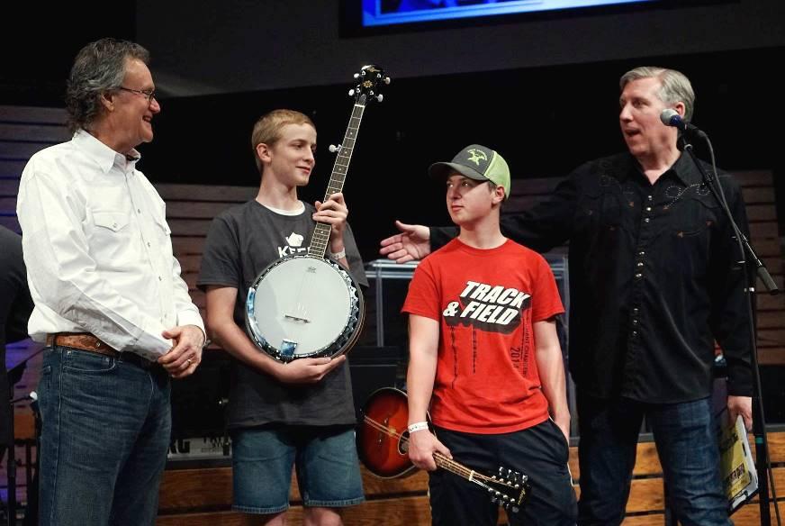 Jacob Williams & Dalton Bartlett with Bluegrass Boy Blake Williams April 2016