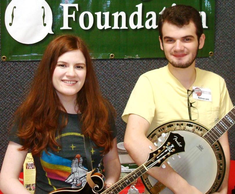 2015 Acoustic Music Camp scholarship recipients Rebecca & Matt Laird