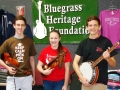 Acoustic Music Camp scholarships 2014 Chad Bekarian - Maddie Smith - William Roberts