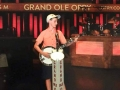 Riley Gilbreath with Huber banjo at Grand Ole Opry (June 2018)