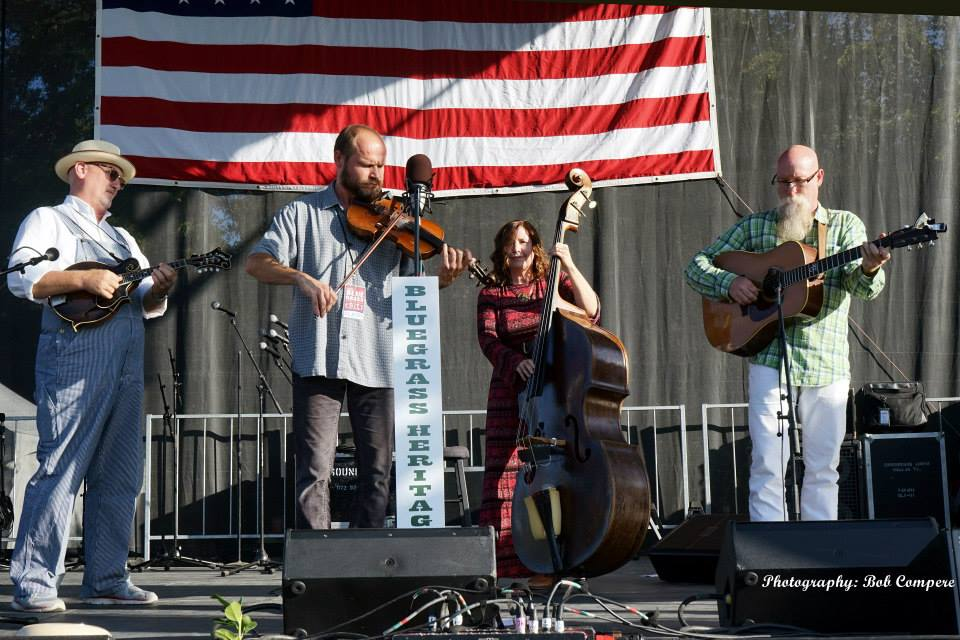 Helen Highwater Stringband at Bloomin' Bluegrass Festival 2015. Photo by Bob Compere