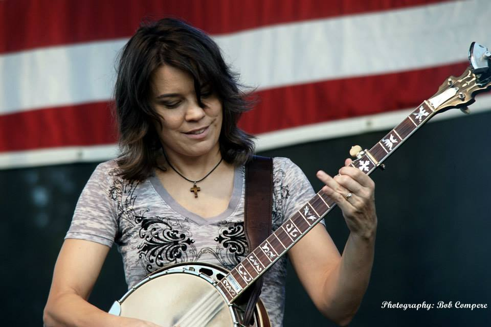 Kristen Scott Benson with the Grascals at Bloomin' Bluegrass Festival 2015. Photo by Bob Compere