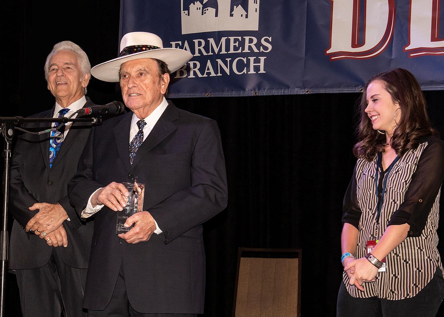 Bobby Osborne Star Award presentation  (photo by Perry Callahan)
