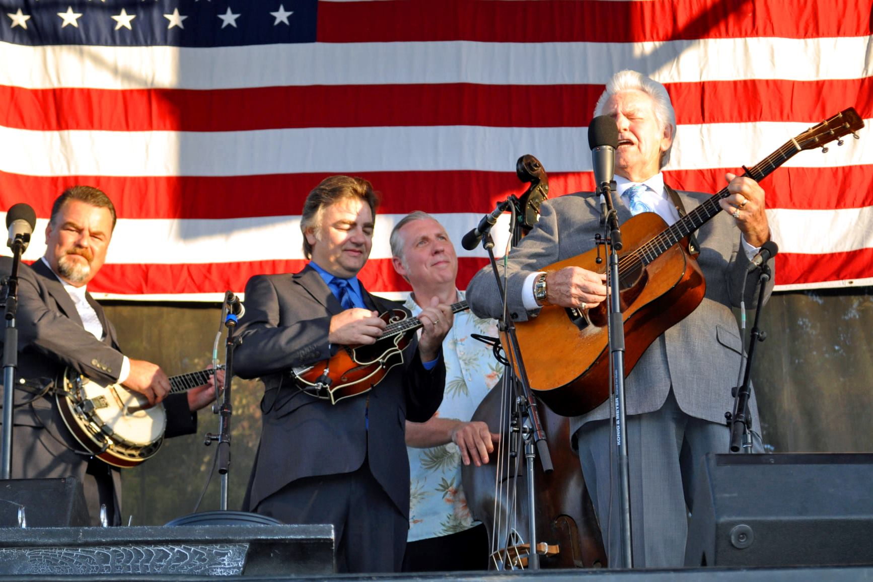 Del McCoury Band with Alan Tompkins, Bloomin' 2019 (by Mark Shaffer)