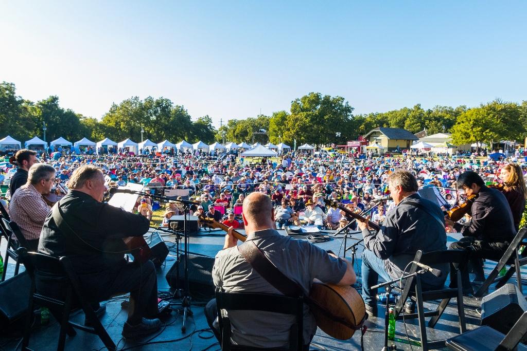 Kruger Brothers & DSO Quartet at Bloomin' 2019 (Nate Dalzell)