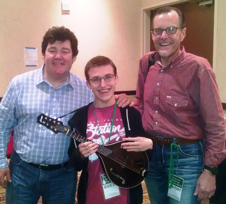 Backstage with Marty Raybon, Braeden Paul, and Adam Steffey at Lone Star Fest 2015.