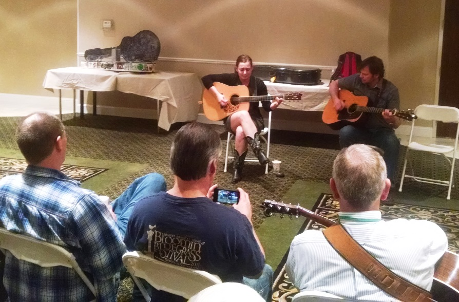 Sophia Johnson and Keith Garrett teach the Guitar Workshop at Lone Star Fest 2015.