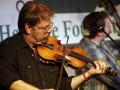 Ron Stewart fiddling with the Boxcars at Lone Star Fest 2015. Photo by Bob Compere.