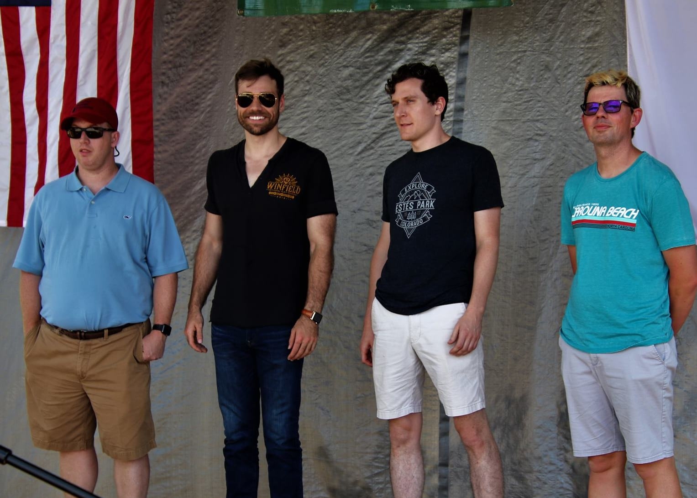 Banjo Finalists Apple, Welty, Edwards, Wallace (c. G. N. Hancock)