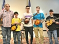 2019 Top 5 Texas Mandolin Contestants.  Photo by Fred Knorre.