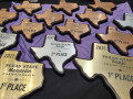2021 Texas State Championships plaques.  Photo by Alan Tompkins.
