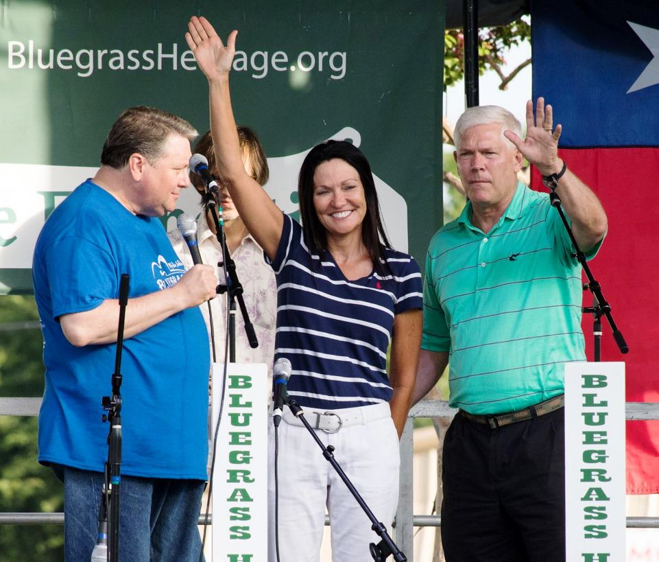 Mayor Eric Hogue and Pete Sessions at Wylie Jubilee 2017 by Nate Dalzell