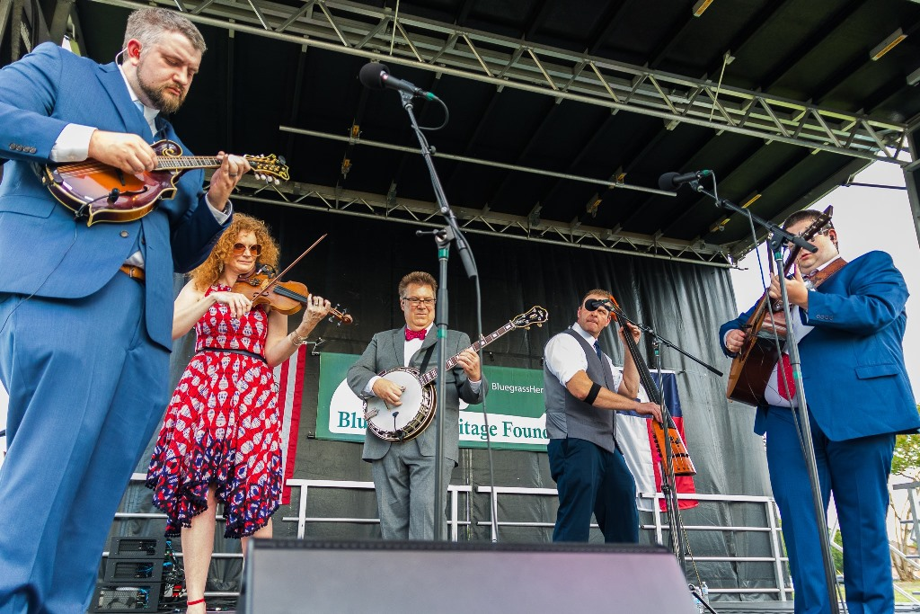 Becky Buller Band at  Wylie Jubilee 2021. Photo by Nate Dalzell