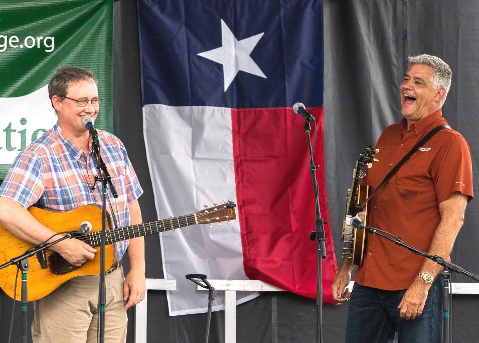 John R. Bowman & Steve Huber  at Wylie Jubilee 2019.  Photo by Nate Dalzell.