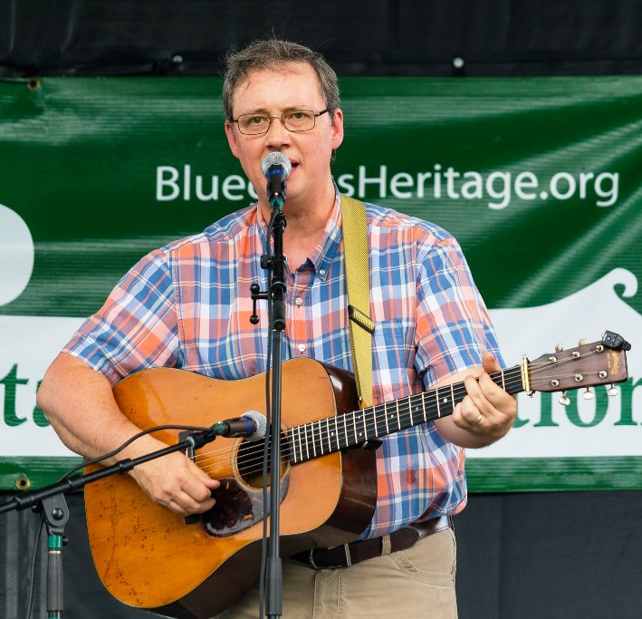 John R. Bowman with Texas & Tenn. at Wylie Jubilee 2019.  Photo by Nate Dalzell.