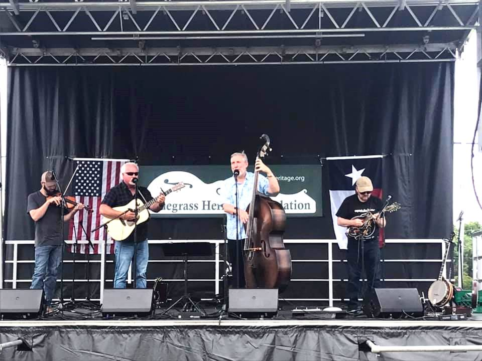 The Downtown String Band at  Wylie Jubilee 2021. Photo by Julie Tucker