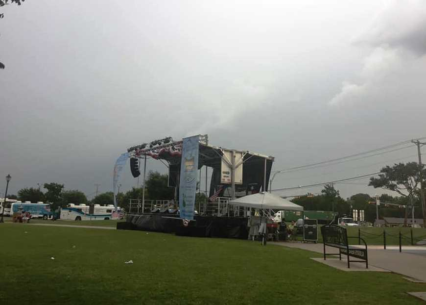 Scary times and a 3-hour rain delay at Wylie Jubilee 2019.  Photo by Melody Hendrix.