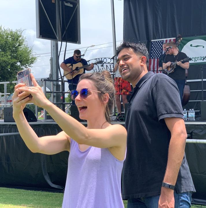 Selfie fun at  Wylie Jubilee 2019.  Photo by Gerald Jones.