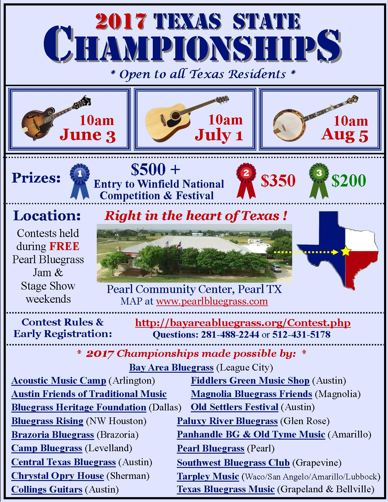 Texas State Flatpicking Championship 2017