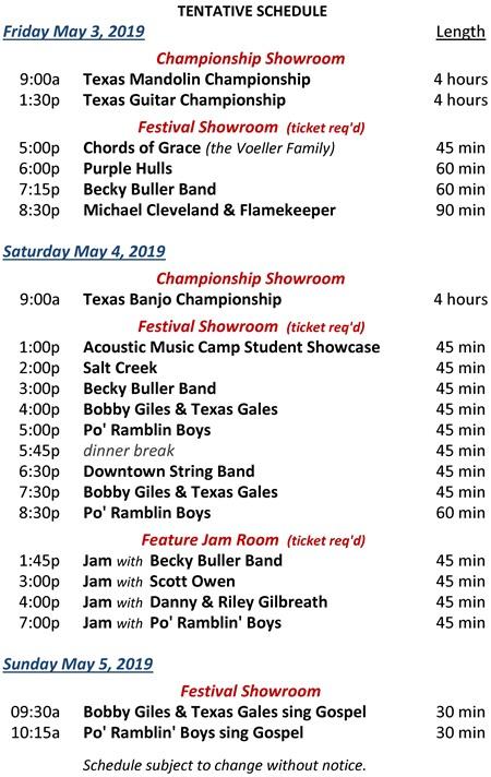 2019 BG Heritage Festival schedule