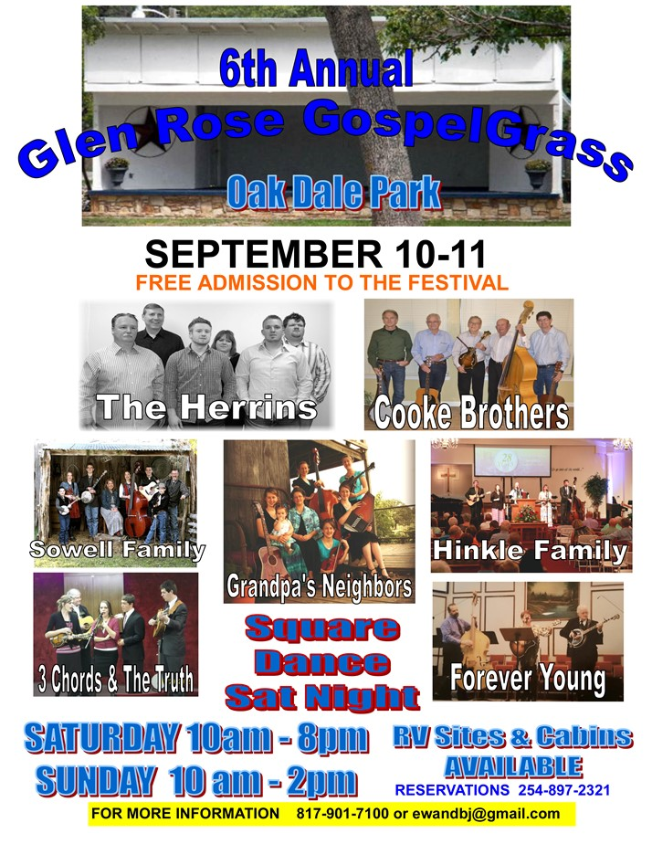 6th Glen Rose GospelGrass 2016
