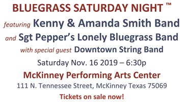 Bluegrass Saturday Night in McKinney Texas