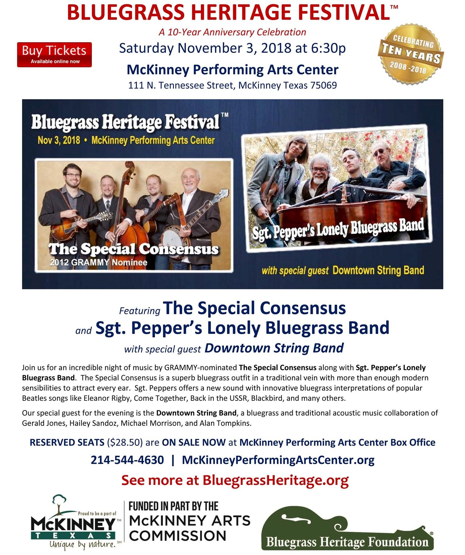 Bluegrass Heritage Festival 2018 Flyer