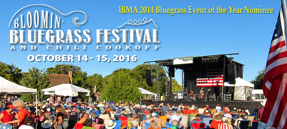 Blooming Bluegrass Festival Oct. 14-15, 2016