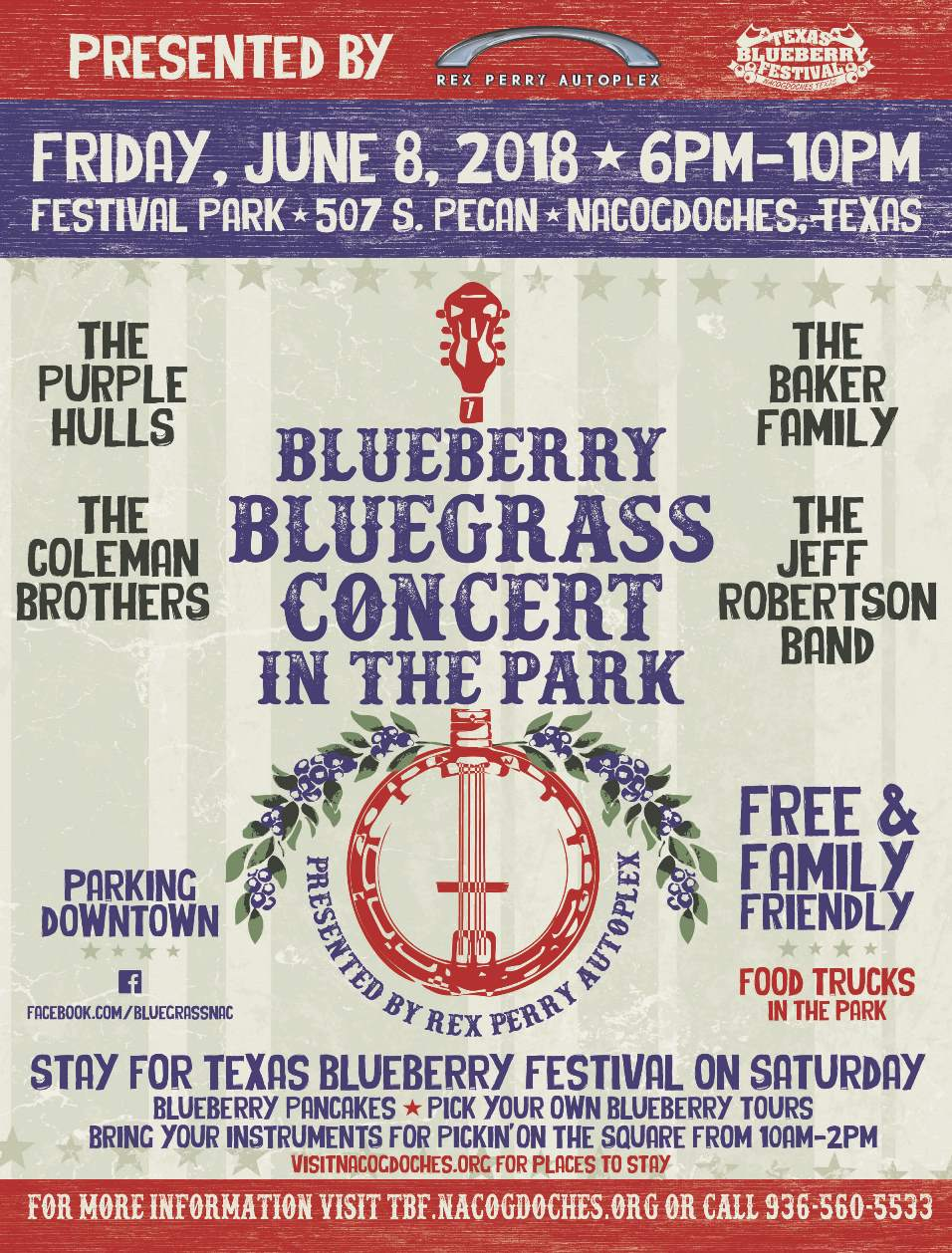 Blueberry Bluegrass Concert in the Park 2018