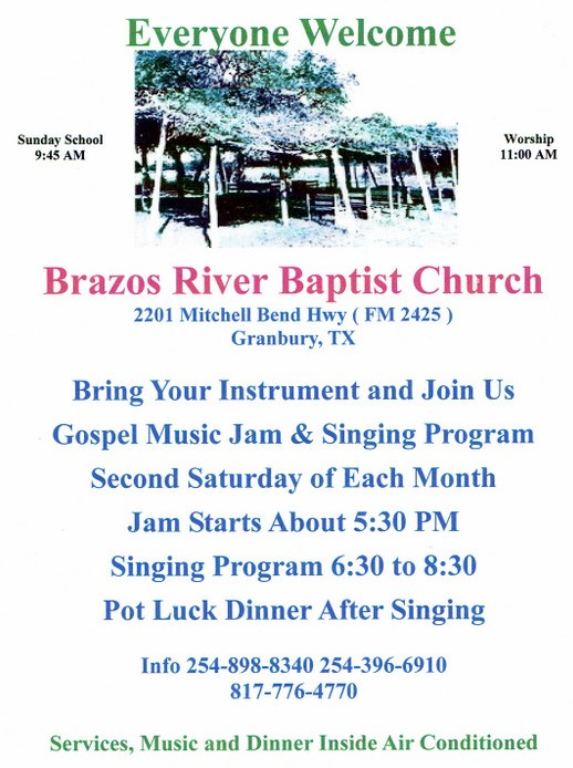 Brazos River Baptist Church Jam and Singing