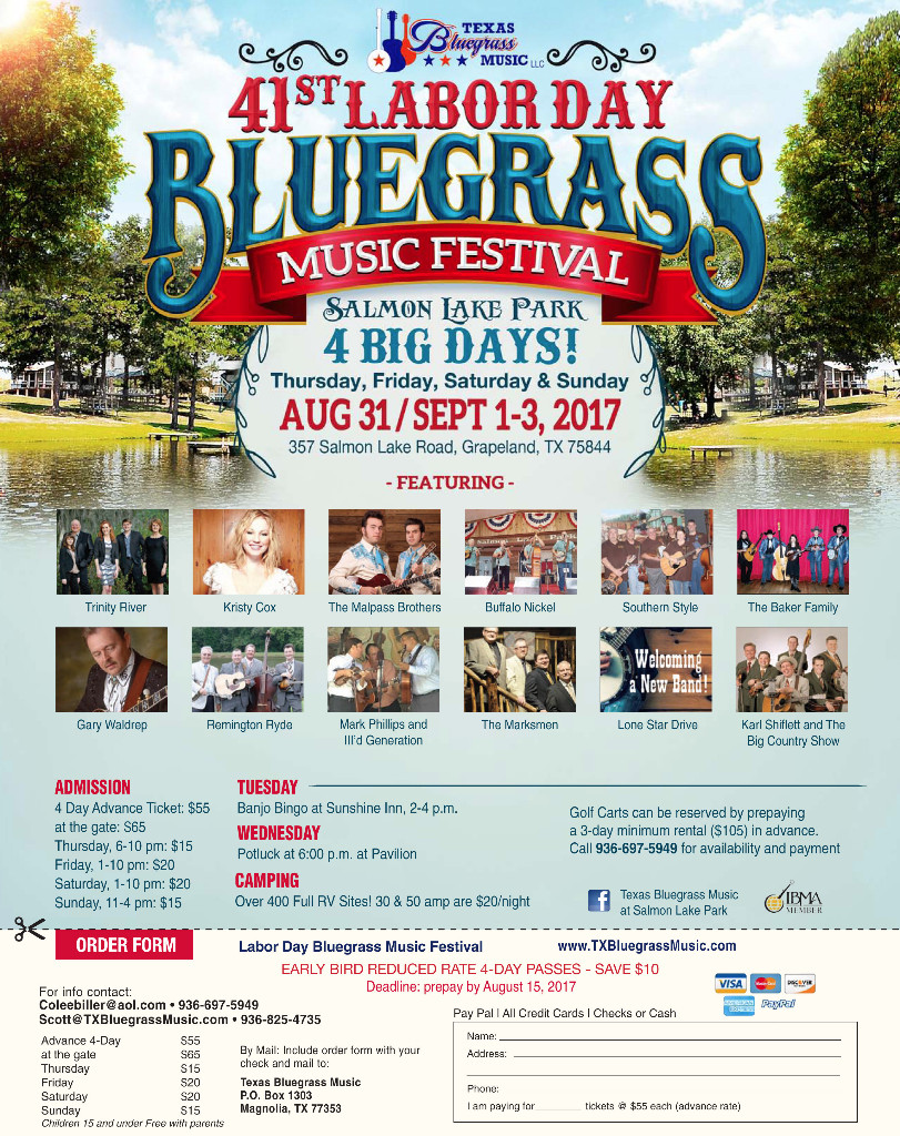 Labor Day Bluegrass Music Festival at Salmon Lake