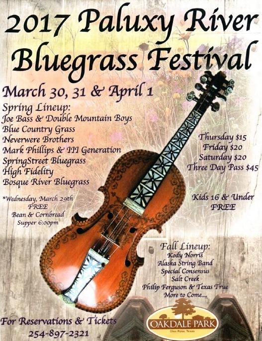 Paluxy River Bluegrass Festival 2017