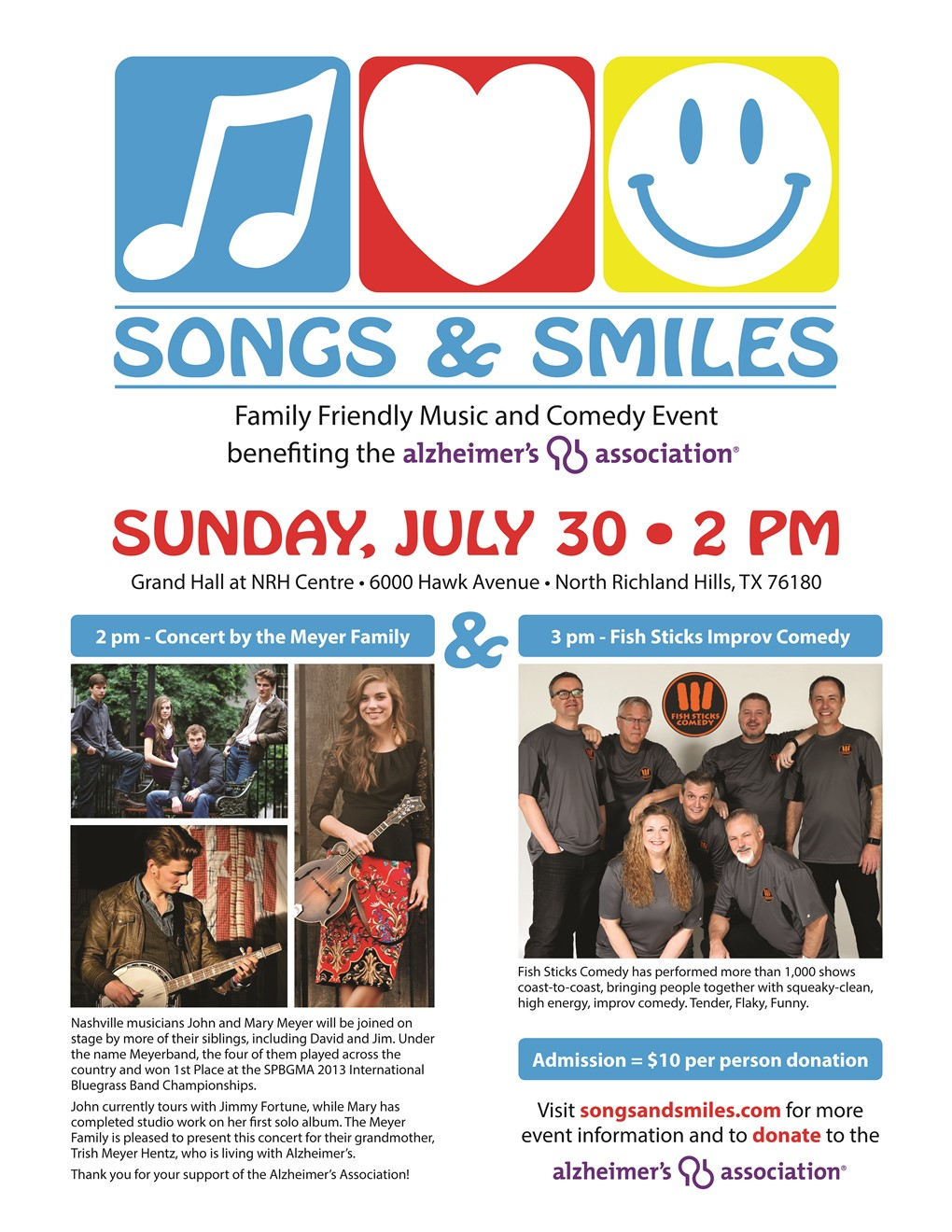 Songs and Smiles Event Flyer