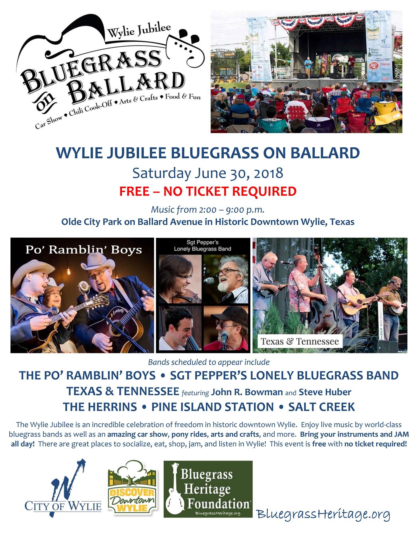 Wylie Jubilee - Bluegrass on Ballard 2018