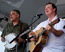 Steve Huber and John Bowman of Texas & Tennessee at Wylie Jubilee - Bluegrass on Ballard - July 2 2016
